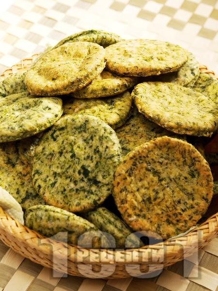 Солени бисквити със спанак - снимка на рецептата